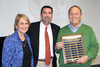 From left, Dean Ann Brill, Mark Mears and Timothy Bengtson