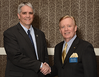 Roy Jensen, M.D. and Robert Shively, executive director of the Kansas Masonic Foundation