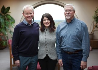 From left, Stephen Fawcett, Christina Holt and Jerry A. Schultz.