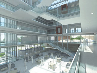 Conceptual renderings of KU's planned School of Business building