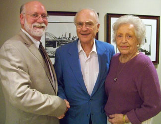 From left, Mike Reid with James J. Ascher Sr., and Mary Ellen Ascher