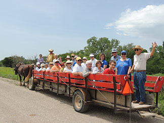 Osher Institute participants tour the Flying W Ranch in the Flint Hills.